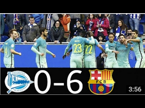 Luis Suarez Goal   Alaves vs Barcelona 0-6 LaLiga 11 2 2017