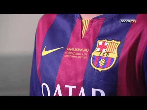 Special FC Barcelona jersey for Champions League final