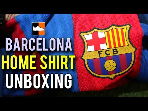 Barcelona 2016-17 Home Shirt Unboxing | Nike AeroSwift Soccer Kits