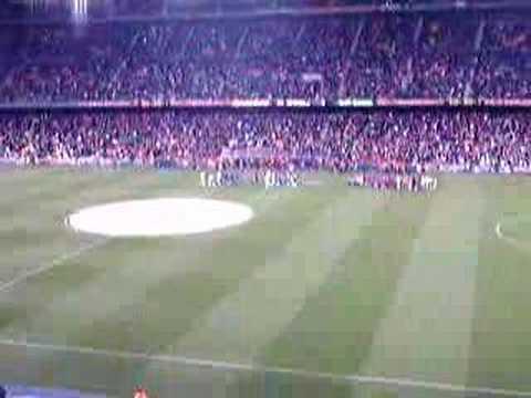 Cant del Barça al Camp Nou (Catalunya)