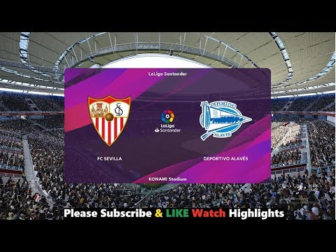 Sevilla vs Alaves (1-1) LineUps   La Liga 2019/20