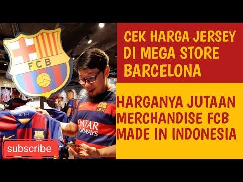 Harga merchandise Barcelona di FCB store Camp Nou –  Barça mega store – Jersey sampe peralatan bayi