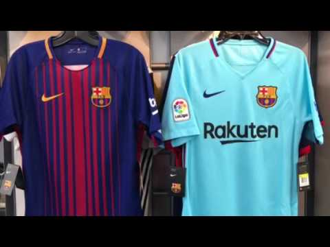 Barcelona Jersey Vancouver 2017 2018 by Nike at Soccer Store NAS 604-299-1721