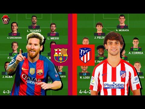 BIG MATCH SEMIFINAL SUPERCOPA DE ESPANA!!! Prediksi Lineup Barcelona Vs Atletico Madrid!!!