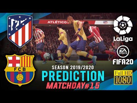 ATLÉTICO MADRID vs BARCELONA | La Liga 2019/2020 ● Matchday 15 Prediction ● FIFA 20 | RetroGAMEz