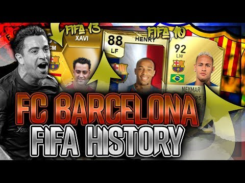 FC BARCELONA FIFA ULTIMATE TEAM HISTORY!! FT IBRAHIMOVIC, XAVI, NEYMAR ETC… (FIFA 10-20)