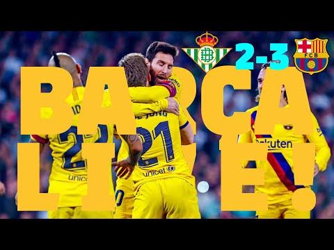 ⚽Real Betis 2 – 3 Barça | BARÇA LIVE: Warm Up & Match Center #BetisBarça