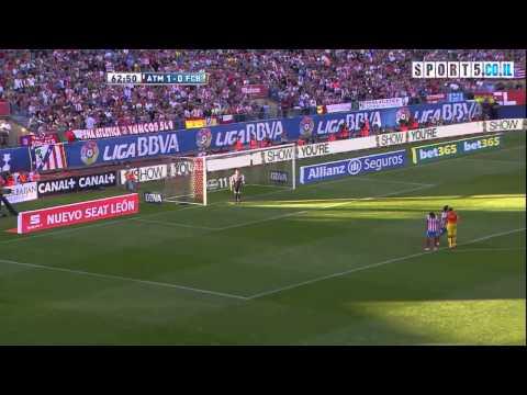 HIGHLIGHTS: FC BARCELONA VS ATLETICO MADRID 2:1 12/5/13