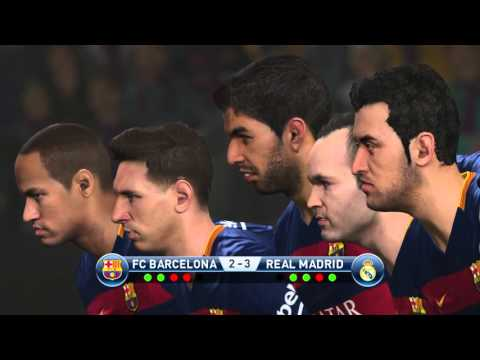 PES 2016 | PENALTY KICKS BARCELONA FC vs REAL MADRID PS4