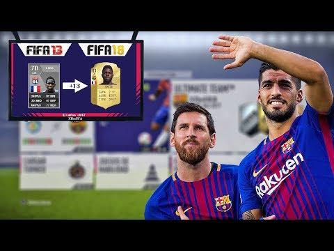 FC BARCELONA DE FIFA 10 A FIFA 18    ? TODAS LAS CARTAS DE FIFA   XTheFIFA