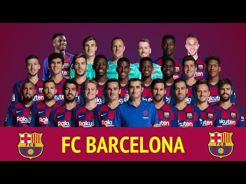 FC Barcelona Offiicial Squad 2019-20