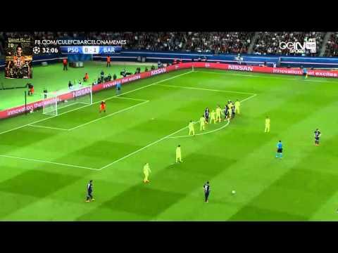 Barcelona Brilliant Offside Trap HD vs PSG + OLé / Champions League 2015