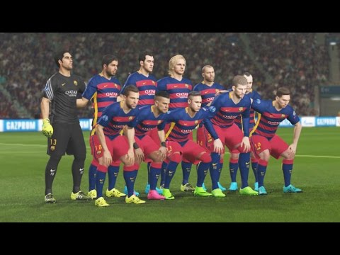 PES 2016 PS4 Gameplay – FC Barcelona Vs Real Madrid – UEFA Champions League