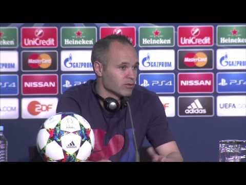 Andres Iniesta: Barcelona played 10 out of 10 v Juventus