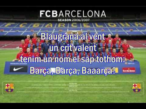 lyric of Cant Del Barca ( Hymne Barcelona )