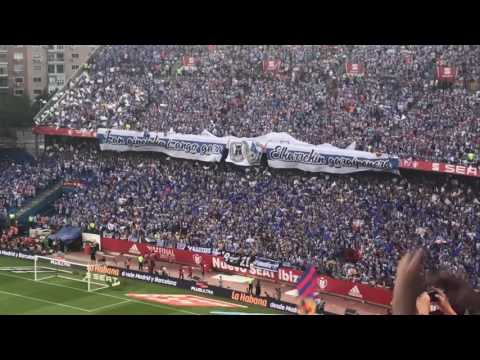 Deportivo Alaves tifo at #CopaDelRey Final between Barcelona and Alaves! Game in Madrid!