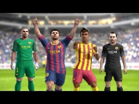 PES 2013 –  Barcelona New Kits 2013 – 2014 | Home/Away | ║HD║