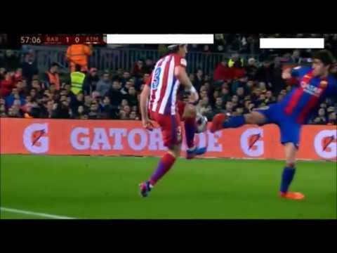 Sergi Roberto RED CARD (Barcelona vs Athletico Madrid)