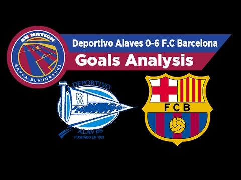 Deportivo Alavés 0-6 F.C Barcelona: Goals Analysis