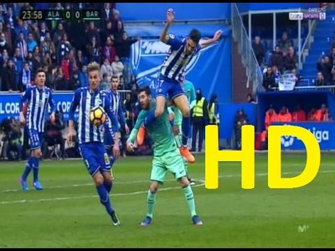 Lionel Messi Goal – Alaves vs Barcelona 0-6 – La Liga 11/2/2017 HD