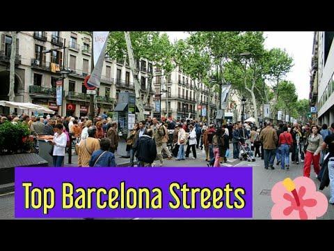 La rambla barcelona/Barcelona walk streets/la rambla walk/barcelona main shopping street