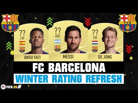 FIFA 20 | FC BARCELONA WINTER RATING REFRESH! ??| FT. MESSI, ANSU FATI, DE JONG… etc