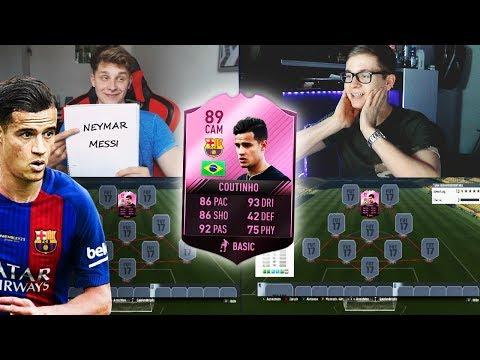 FIFA 17: FC BARCELONA COUTINHO TRANSFER PREDICTION SQUAD BUILDER SHOWDOWN vs FIFAGAMING 😱🔥😈