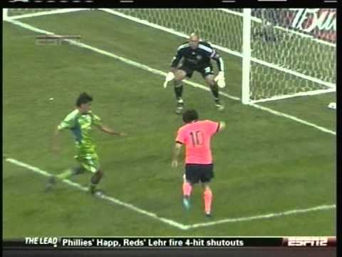 2009 (August 5) Seattle Sounders (USA) 0-Barcelona (Spain) 4 (Friendly)