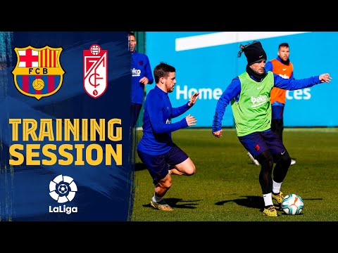Saturday's workout before the match against Granada