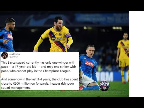 Twitter Reacts To Barcelona Vs Napoli Champions League Game