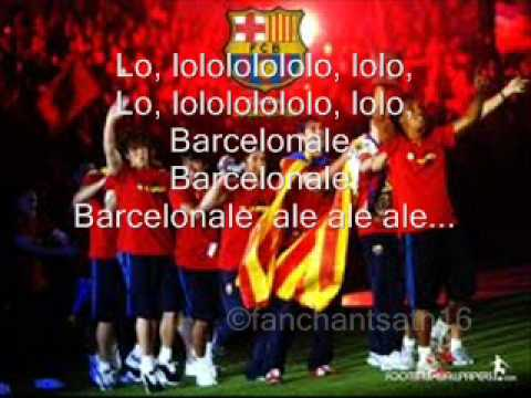 Barcelona Ale Football Song