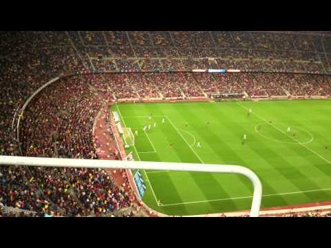 FCB Match at Camp Nau Barcelona . 4k Video