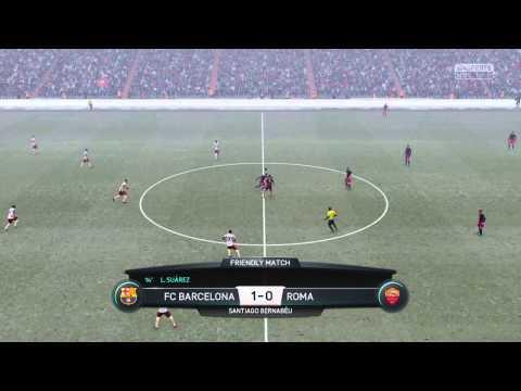 BARCELONA Vs. AS ROMA | Club Friendly FIFA 16 PS4 [HD]