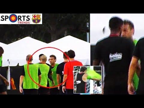 Neymar Jr | FC Barcelona Training Bust Up