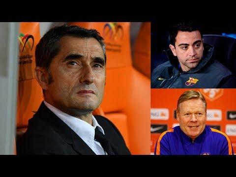 Latest News on Ernesto Valverde's future at Barcelona ft Xavi & Ronald Koeman