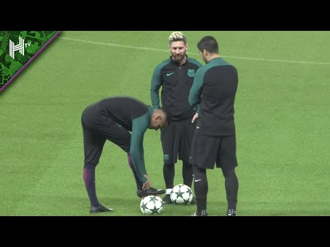 Suarez trolls Neymar with Messi watching! | Training ground funnies with Barcelona