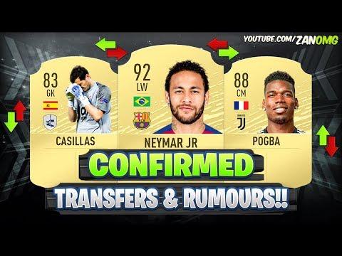 FIFA 20 | NEW CONFIRMED TRANSFERS & RUMOURS!! ✅🔥 FT. NEYMAR, POGBA, CASILLAS…