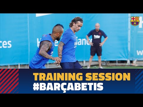 Last workout before the match against Betis