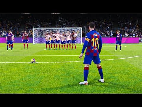 PES 2020|  BARCELONA VS ATLETICO MADRID | Messi 2 Free Kick Goals