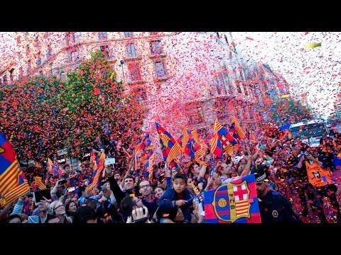 FC Barcelona – Rua i festa dels campions 2015
