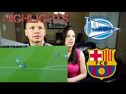 Deportivo Alaves vs Barcelona 0-6 Highlight Reaction