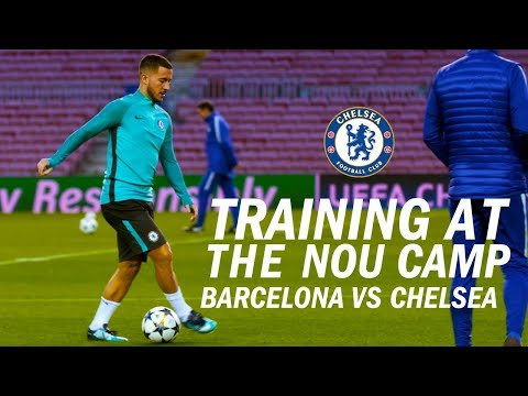 Exclusive Access As Chelsea Travel To Barcelona And Train At The Nou Camp | Inside Access