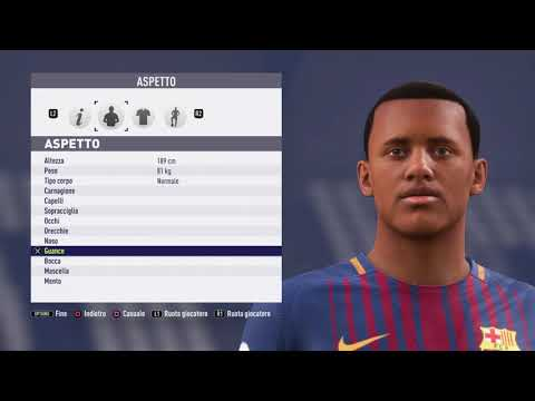 Jean-Clair Tobido – FC Barcelona –  Fifa 18 – Create Face