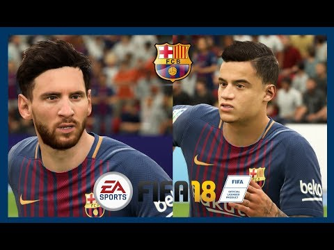 FIFA 18 – ALL BARCELONA PLAYERS (REAL FACES & STAT)