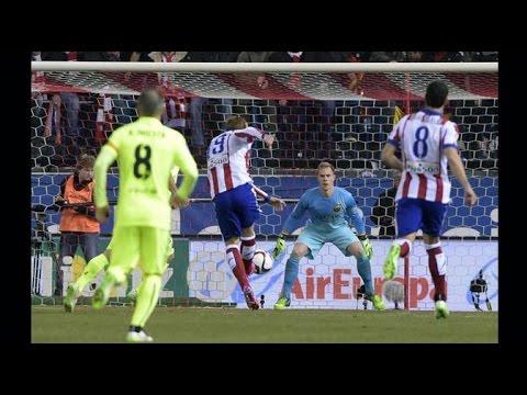 Atletico Madrid vs FC Barcelona , Results and Final Score , Copa del Rey 01/29/2015