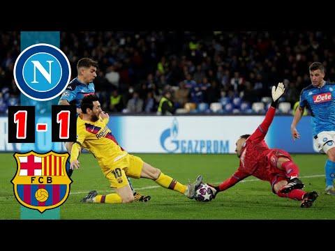 Napoli vs Barcelona 1-1, Goal Score UEFA Champion League 2019, Head to Head, Lineups and Match Stats