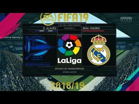 FIFA 19 Deportivo Alaves Vs Real Madrid | La Liga 2018/19 | PS4 Full Match