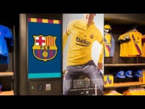 FC Barcelona Official store Camp Nou Megastore Tour