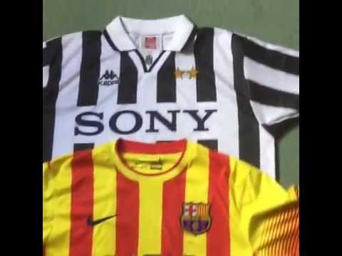 Classic Football Shirts – Barcelona vs Juventus