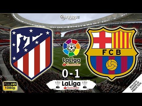 Atletico Madrid vs Barcelona 0-1 | La Liga 2019/20 | Matchday 15 | 01/12/2019 | FIFA 20
